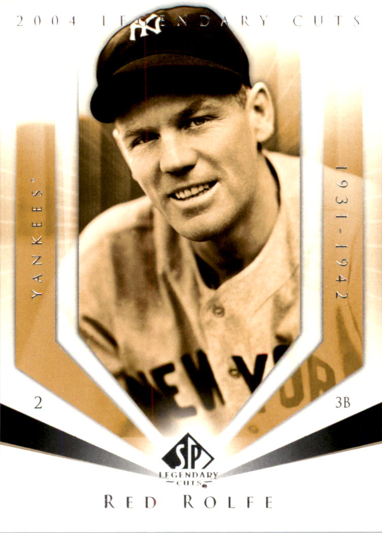 2004 SP Legendary Cuts #92 Red Rolfe