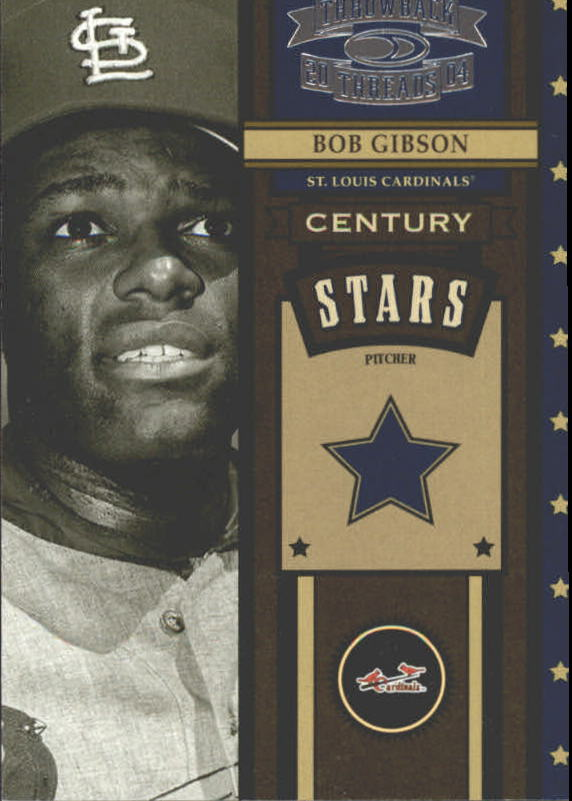 2004 Throwback Threads Century Stars #8 Bob Gibson