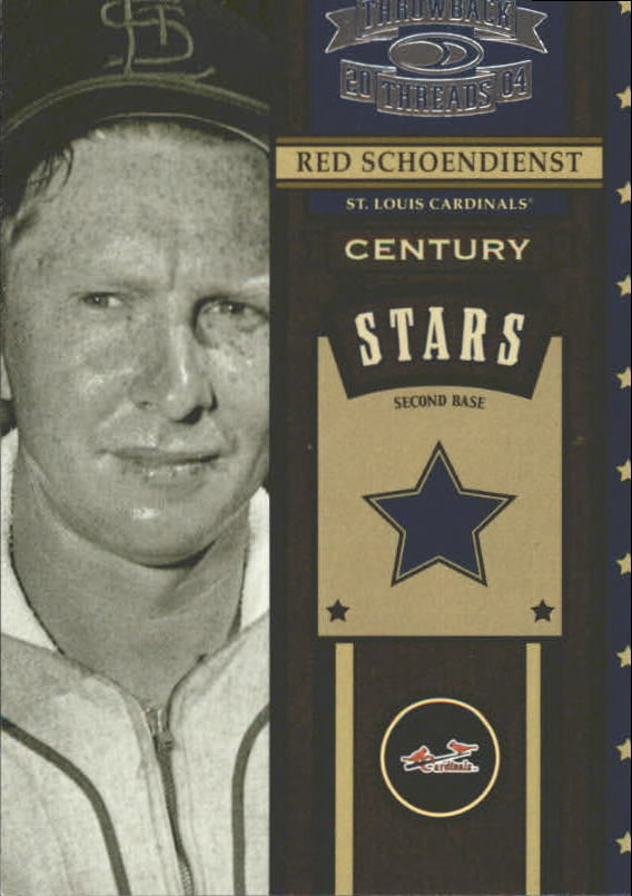2004 Throwback Threads Century Stars #43 Red Schoendienst