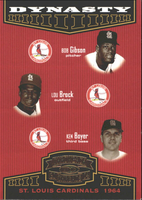 2004 Throwback Threads Dynasty #11 Gibson/Brock/Boyer