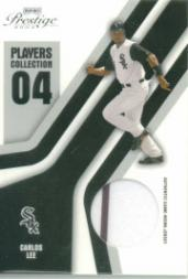 2004 Playoff Prestige Players Collection Jersey #16 Carlos Lee