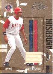 2004 Leather and Lumber Materials Bat #2 Garret Anderson/100