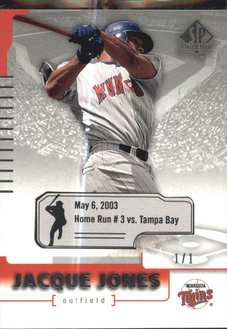 2004 SP Authentic Game-Dated #34 Jacque Jones