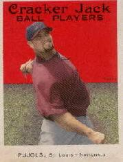 2004 Topps Cracker Jack Mini Stickers #3B Albert Pujols Swinging SP