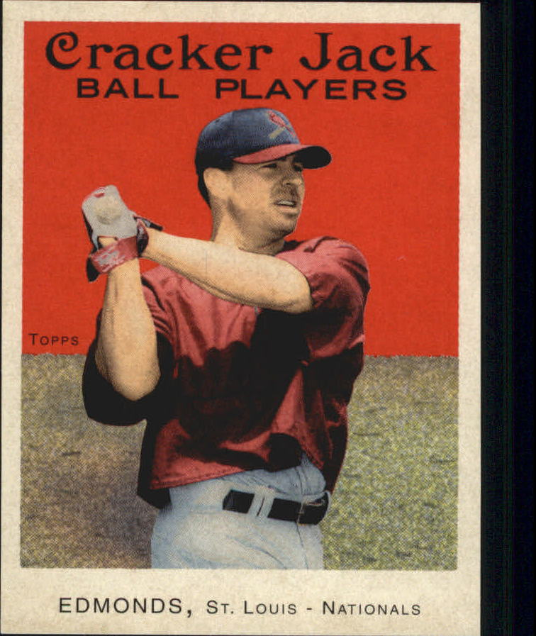 2004 Topps Cracker Jack Mini Stickers #14 Jim Edmonds