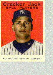 2004 Topps Cracker Jack Mini Stickers #17 Alex Rodriguez Yanks SP