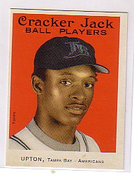 2004 Topps Cracker Jack Mini Stickers #192 B.J. Upton SP front image