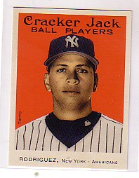 2004 Topps Cracker Jack Mini Stickers #NNO Alex Rodriguez Yanks