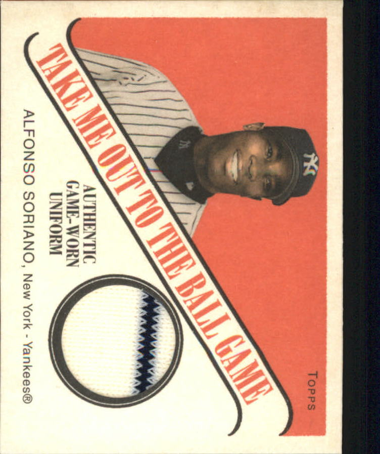 2004 Topps Cracker Jack Take Me Out to the Ballgame Relics #AS Alfonso Soriano Uni G