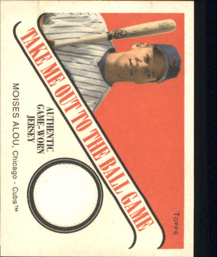 2004 Topps Cracker Jack Take Me Out to the Ballgame Relics #MA Moises Alou Jsy J