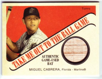 2004 Topps Cracker Jack Take Me Out to the Ballgame Relics #MC Miguel Cabrera Bat H