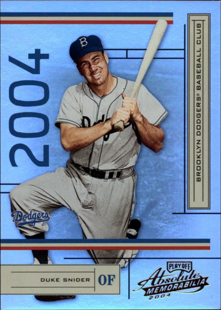 2004 Absolute Memorabilia #100 Duke Snider