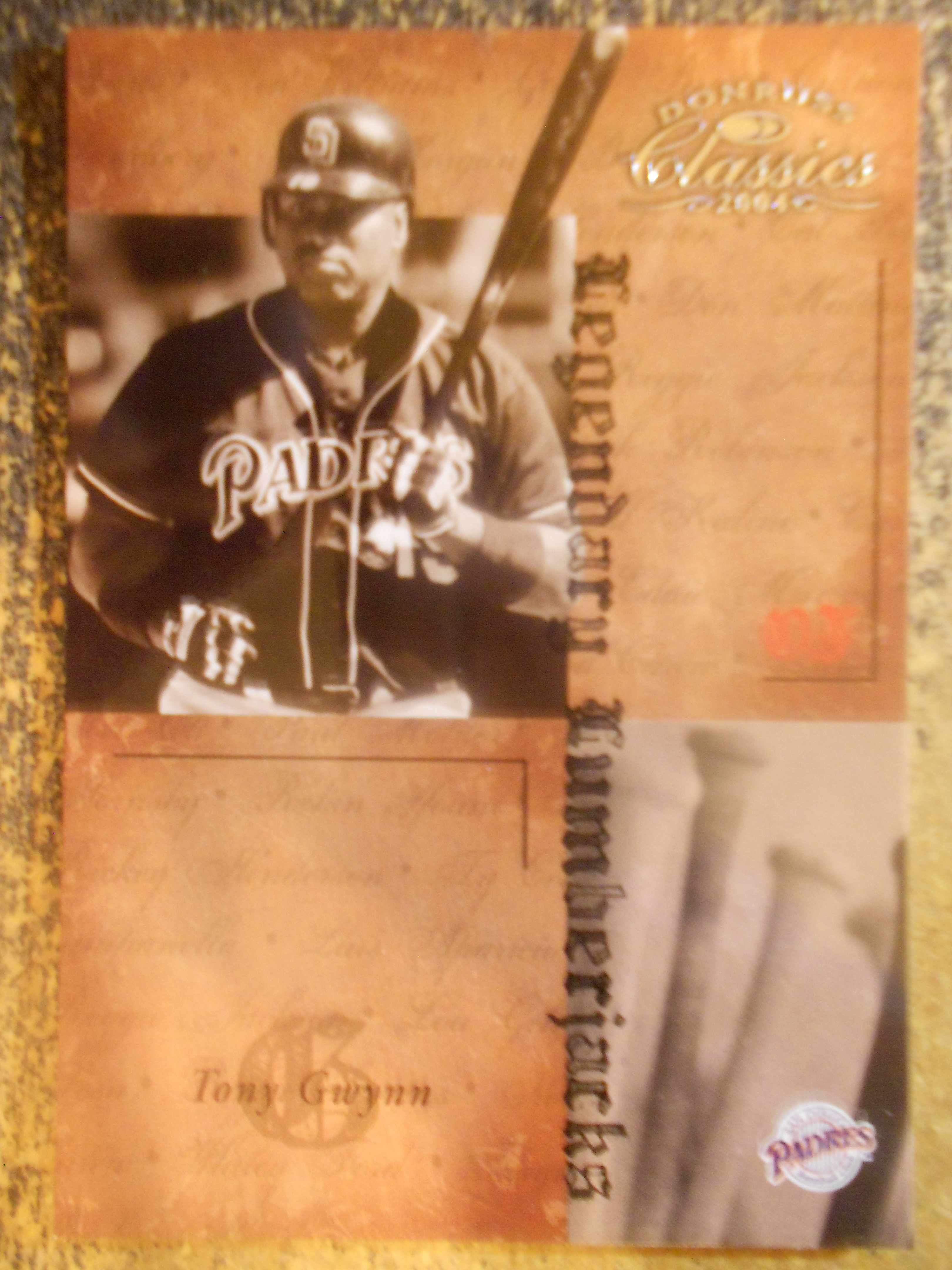 2004 Donruss Classics Legendary Lumberjacks #1 Tony Gwynn