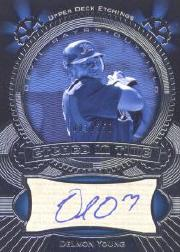 2004 Upper Deck Etchings Etched in Time Autograph Blue #DY Delmon Young/250