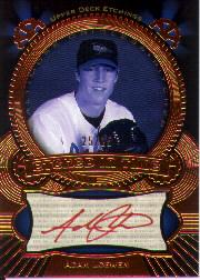 2004 Upper Deck Etchings Etched in Time Autograph Red #AL Adam Loewen