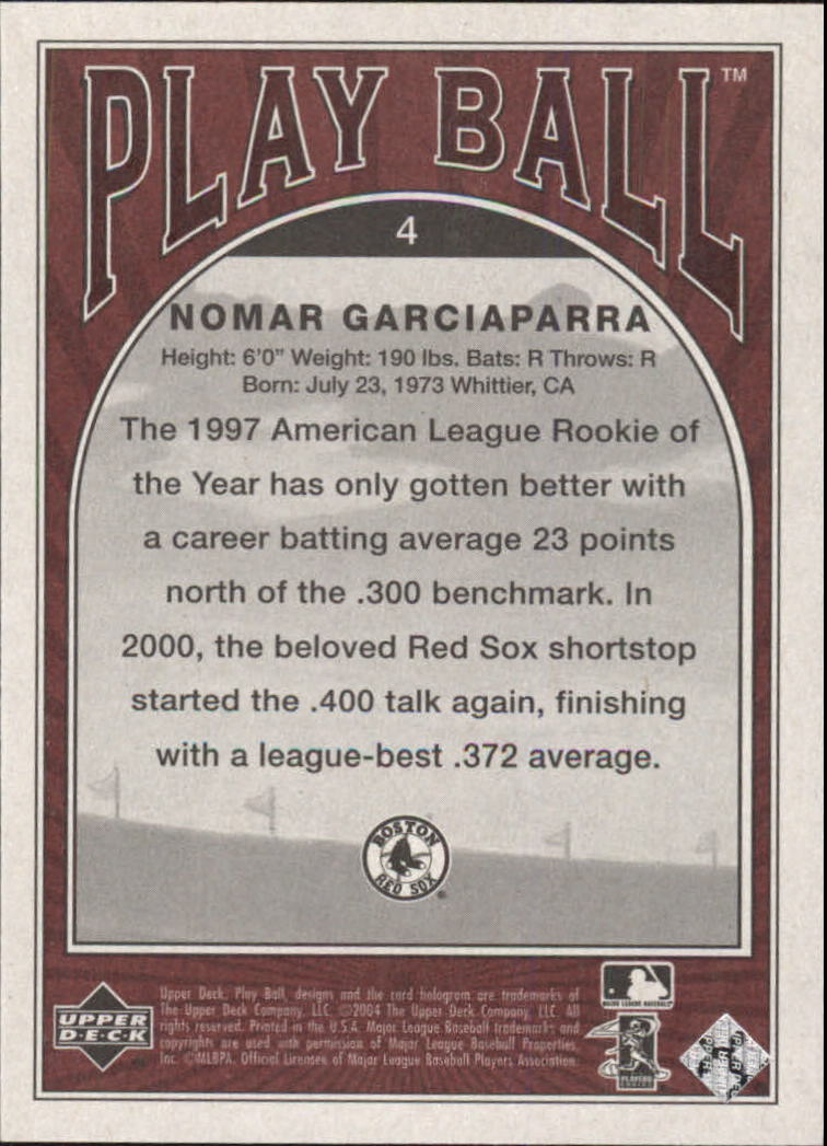 2004 Upper Deck Play Ball #4 Nomar Garciaparra