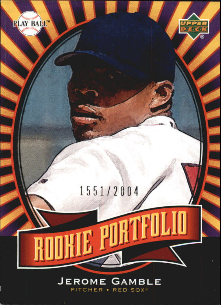 2004 Upper Deck Play Ball #145 Jerome Gamble RP RC