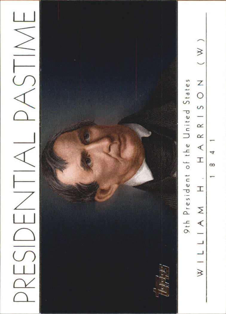 2004 Topps Presidential Pastime #PP9 William Harrison
