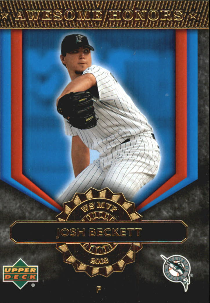 2004 Upper Deck Awesome Honors #8 Josh Beckett front image