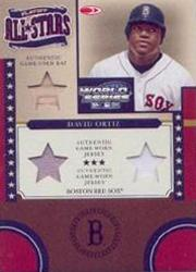 2004 Donruss World Series Playoff All-Stars Material 3 #4 David Ortiz Bat-Jsy-Jsy/100