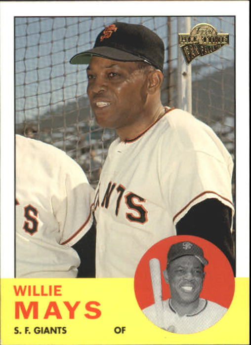 2004 Topps All-Time Fan Favorites #1 Willie Mays front image