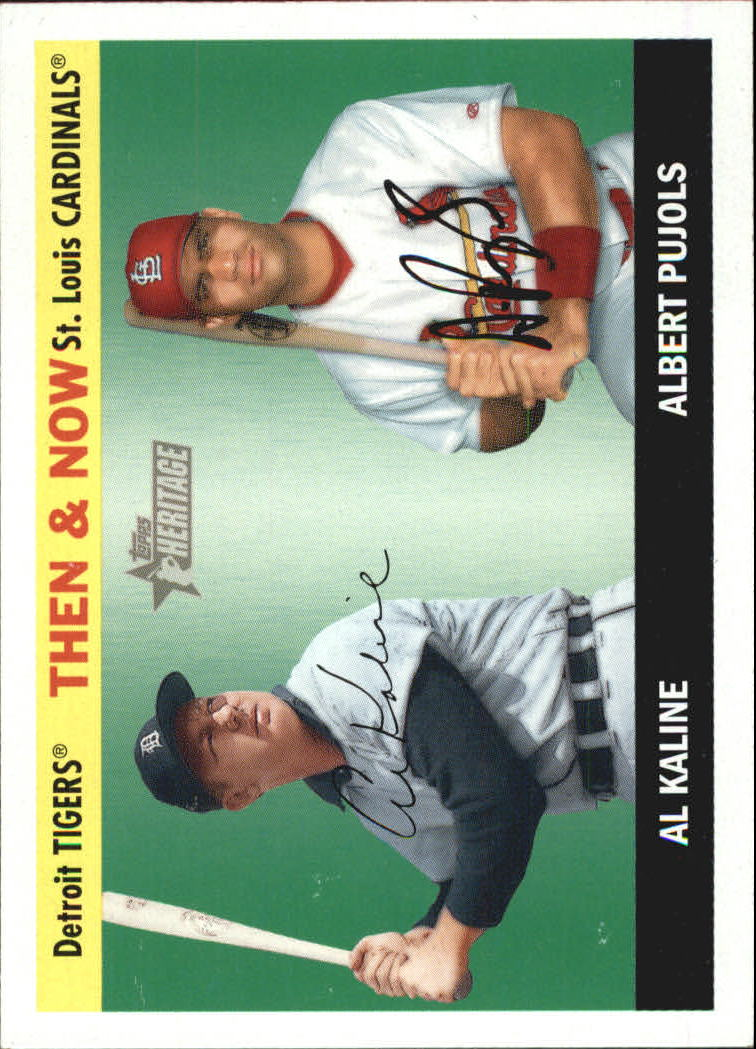 2004 Topps Heritage Then and Now #TN2 A.Kaline/A.Pujols