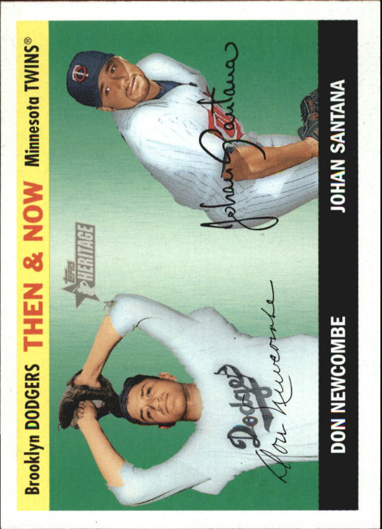 2004 Topps Heritage Then and Now #TN5 D.Newcombe/J.Santana