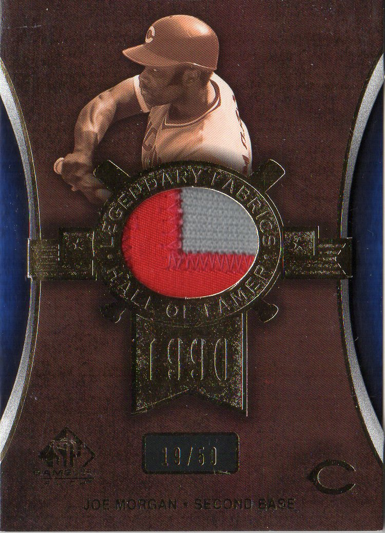 2004 SP Game Used Patch Legendary Fabrics #JM Joe Morgan Reds/50