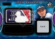 2004 SP Game Used Patch Logo Threads Autograph Dual #IS Ichiro Suzuki