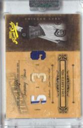 2004 Prime Cuts II Timeline Material Trio Stats #87 Sammy Sosa Bat-Hat-Jsy/5