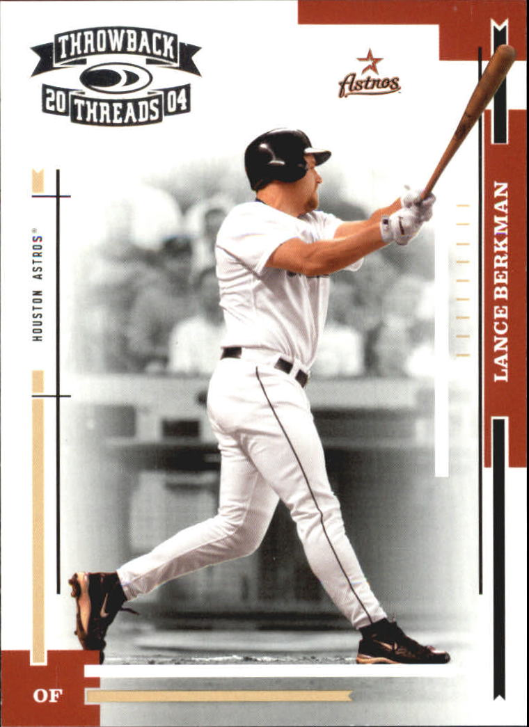2004 Throwback Threads #85 Lance Berkman