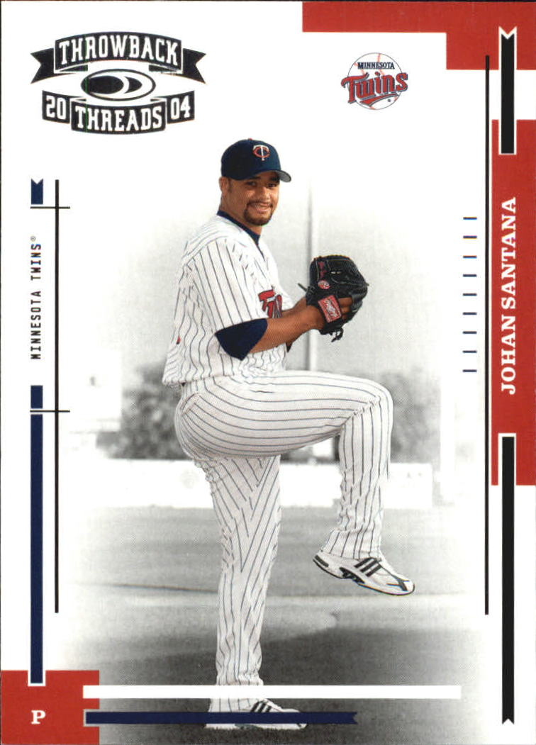 2004 Throwback Threads #114 Johan Santana front image