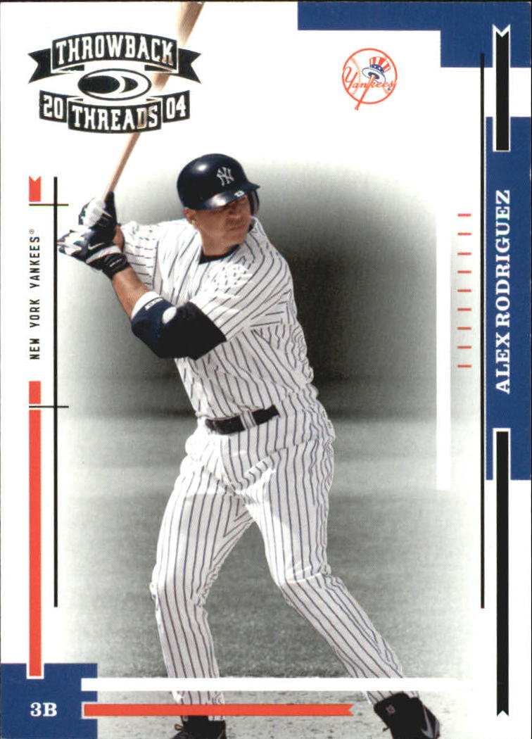 2004 Throwback Threads #130 Alex Rodriguez