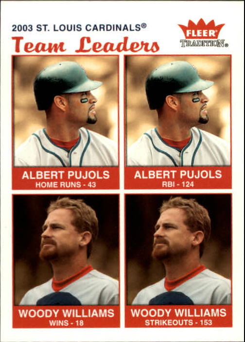 2004 Fleer Tradition #37 Pujols/Williams TL