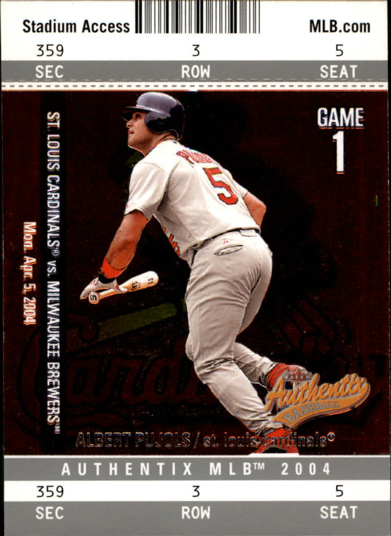 2004 Fleer Authentix #1 Albert Pujols