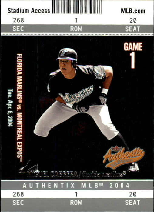 2004 Fleer Authentix #57 Miguel Cabrera