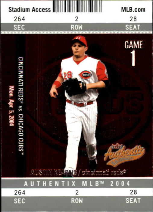 2004 Fleer Authentix #63 Austin Kearns