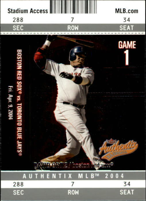 2004 Fleer Authentix #93 David Ortiz