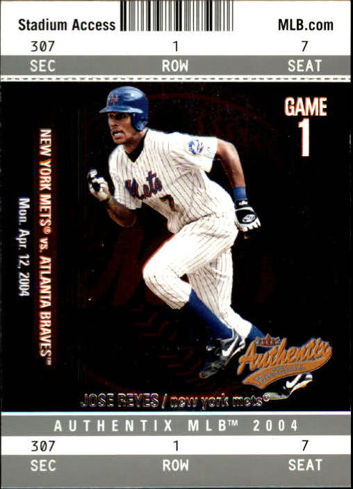 2004 Fleer Authentix #100 Jose Reyes