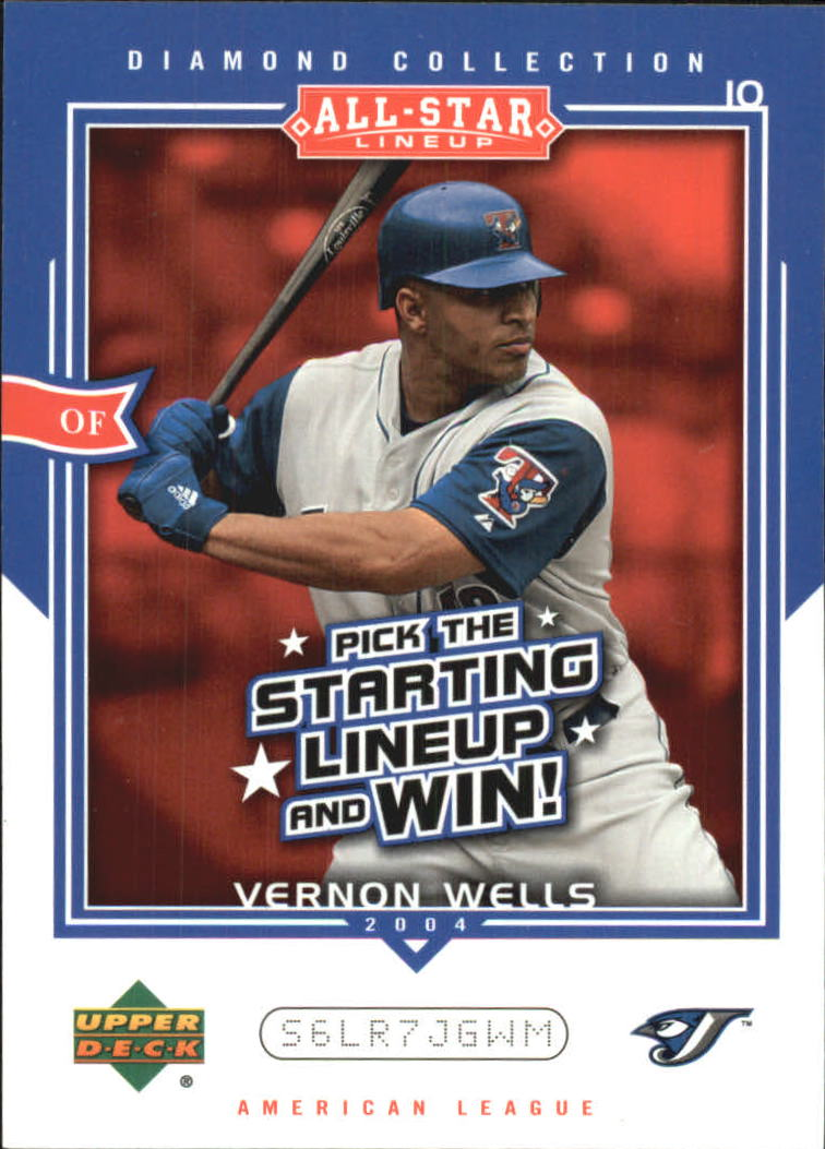 2004 UD Diamond All-Star Promo #VW Vernon Wells