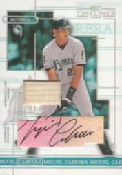 2004 Donruss Timelines Material Autograph #7 Miguel Cabrera Bat/25