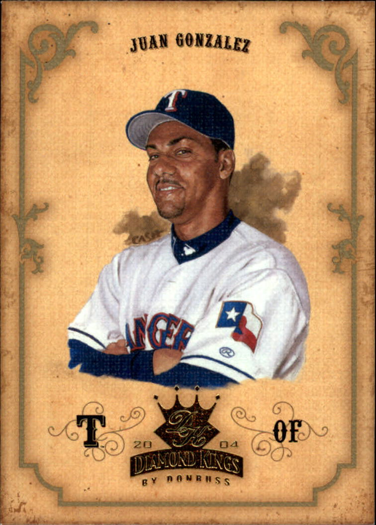 2004 Diamond Kings #80 Juan Gonzalez