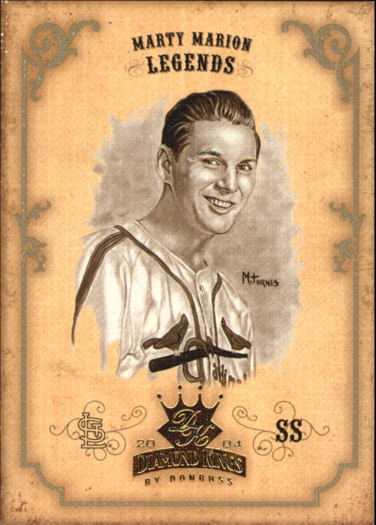 2004 Diamond Kings Sepia #162 Marty Marion LGD