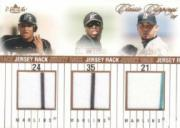 2004 Classic Clippings Jersey Rack Triple Bronze #CWB Miguel Cabrera/Dontrelle Willis/Josh Beckett