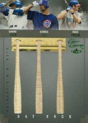 2004 Classic Clippings Bat Rack Triple Green #SLP Sammy Sosa/Derrek Lee/Mark Prior