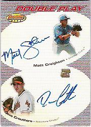 2004 Bowman's Best Double Play Autographs #CC Matt Creighton/Dave Crouthers