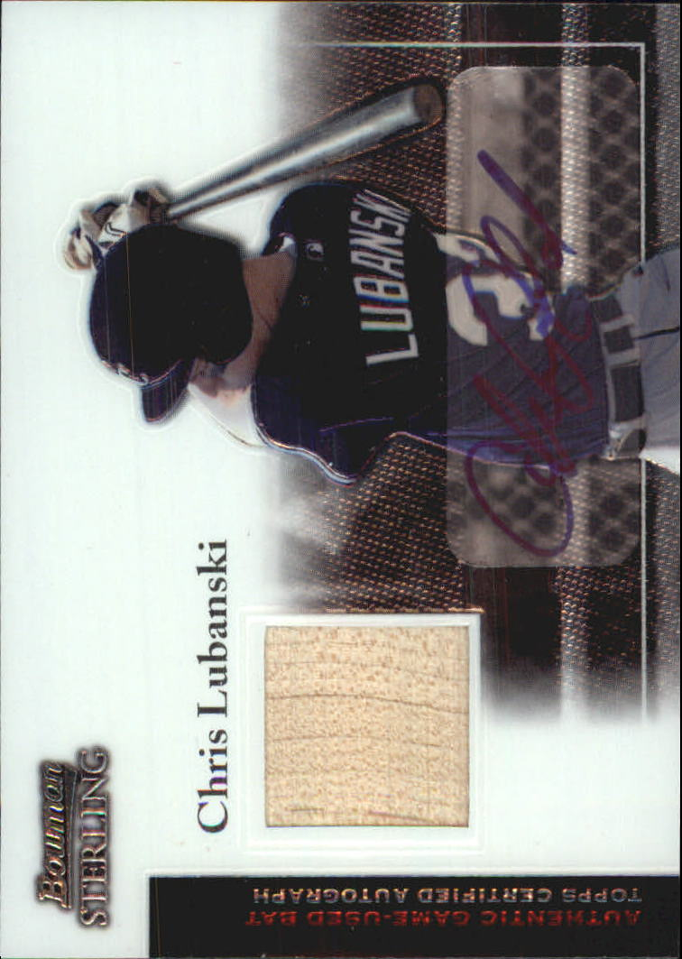 2004 Bowman Sterling #CL Chris Lubanski AU Bat