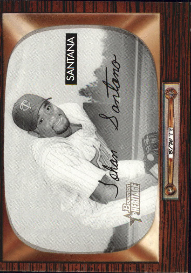 2004 Bowman Heritage Black and White #168 Johan Santana