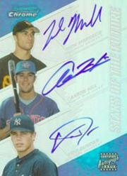 2004 Bowman Chrome Stars of the Future Refractors #MHD Nick Markakis/Aaron Hill/Eric Duncan