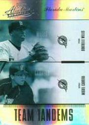 2004 Absolute Memorabilia Team Tandem Spectrum #11 D.Willis/M.Cabrera